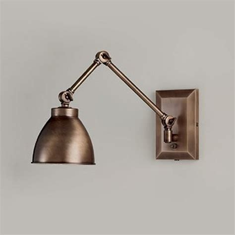 bronze swing arm wall lamp lighting  ceiling fans