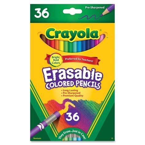 crayola colored pencils crayola erasable colored pencils 36 count walmart