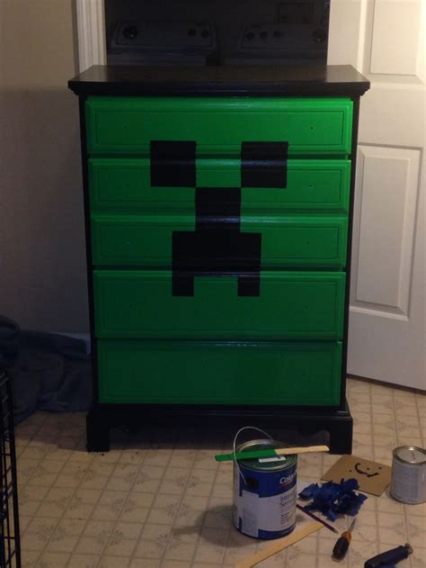 Minecraft Bedroom Drawers by 17 Best Images About My Sons Minecraft Bedroom On