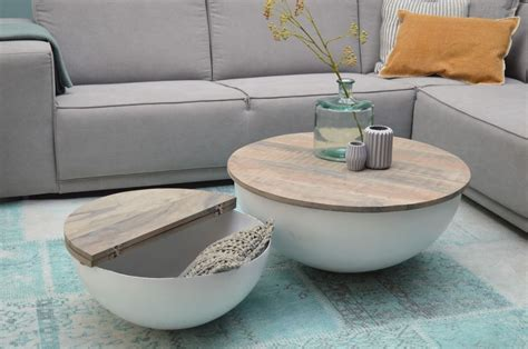 design couchtisch rund design couchtisch mango holz metall rund beistelltisch halbkugel 80x35cm in m 246 bel