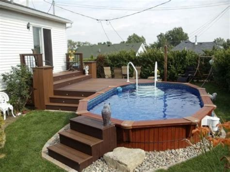 Patio And Pool Deck Ideas by 40 Uniquely Awesome Above Ground Pools With Decks