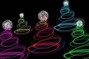 Twinkling Christmas Tree Lights photo of abstract christmas tree lights free christmas