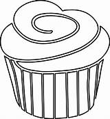 Cupcake Outline Strawberry Clipart Coloring Frosting Line Drawing Clip Princess Pages Clipartmag Gclipart Wecoloringpage sketch template