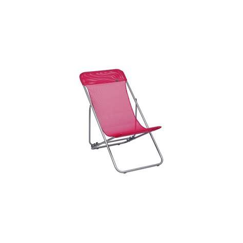 chaise pliante lafuma chaise longue pliante transatube lafuma framboise plantes et jardins