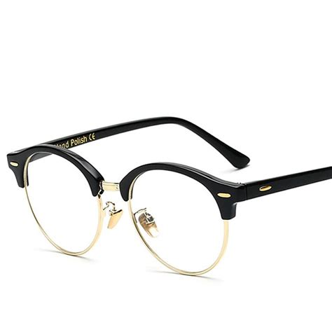 designer frames for glasses 2018 brand designer semi rimless glasses vintage