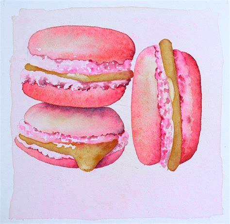 cuisine simon macarons à l aquarelle pas à pas