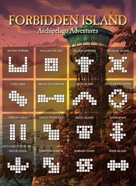 alternate forbidden island layouts games board games