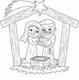 Jesus Coloring Born Nativity Sheet Stable Pages sketch template