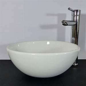 Glas Waschbecken Rund : nero badshop keramik aufsatz waschbecken rund 32cm online kaufen ~ Markanthonyermac.com Haus und Dekorationen