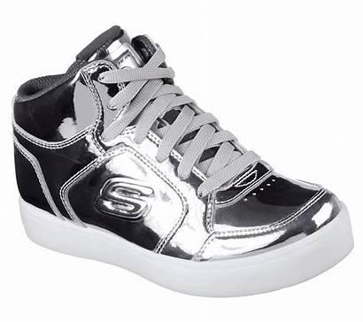 Skechers Lights Energy Silver Eliptic Trainers Unisex