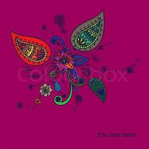 Background with traditional Asian elements Paisley