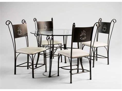 ensemble table ronde 4 chaises cafe conforama pickture