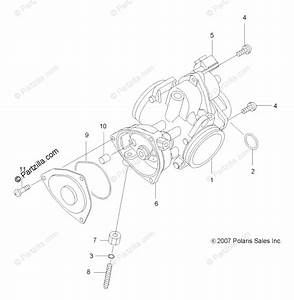 Polaris Atv 2009 Oem Parts Diagram For Engine  Throttle