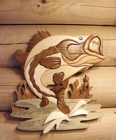 intarsia wood fish intarsia wood beginner woodworking