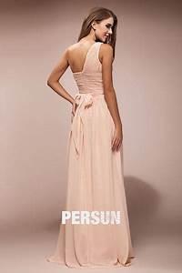 Robe Pour Temoin De Mariage : robe rose t moin mariage longue asym trique noeud papillon ~ Melissatoandfro.com Idées de Décoration