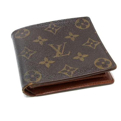 louis vuitton brown signature lv monogram canvas marco bifold wallet tradesy