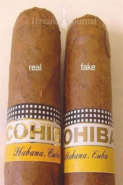 Cigars Cohiba Fake Vs Youpinone