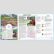 * New * Uks2 Antipalm Oil Advert Daily News Resource Pack