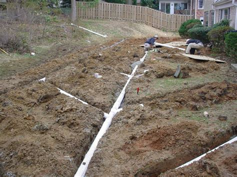 landscape drainage systems irrigation and drainage services ken cut lawn care