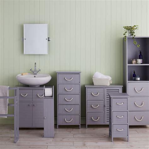 Bathroom Storage Units by Estilo Nautical Grey Nautical Tallboy Bathroom Storage