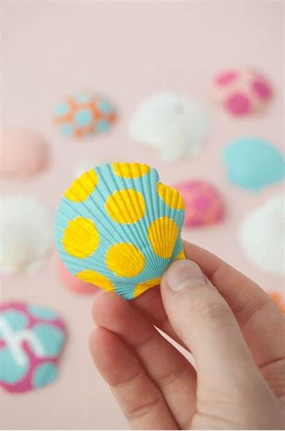 Painted Seashells Handmade
