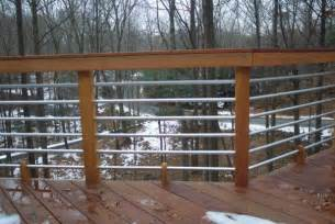 concept and design of horizontal deck railing for home homesfeed