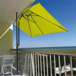 Store Pour Balcon : parasol balcon l o vert anis rectangulaire x ~ Edinachiropracticcenter.com Idées de Décoration