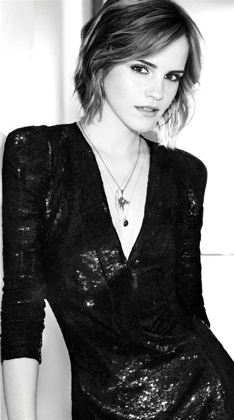 Emma Watson Tangles Hair Celebrity Short