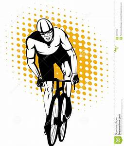 Cyclist Riding Racing Bicycle Royalty Free Stock Image ...