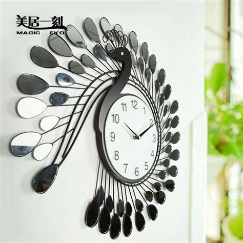 Creative Wall Clock Living Room  Modern Home Design Ideas