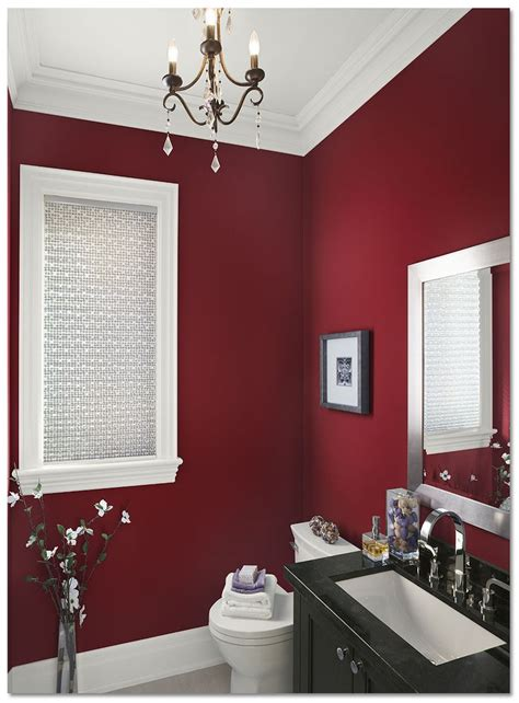 favorite paint color  american edition bathroom red