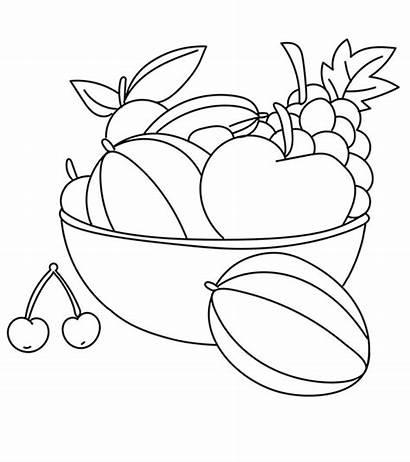 Coloring Cherry Vegetables Fruits Fruit Printable Cherries