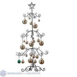 unique metal scroll christmas ornament display tree 39 3 4 quot black 354026