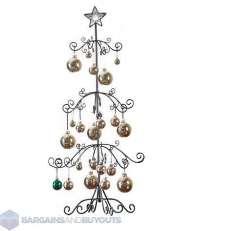 metal christmas tree ornament holders unique metal scroll ornament display tree 39 3 4 quot black 354026 ebay