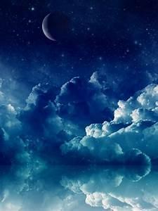 768x1024 Pretty Blue Night Ipad wallpaper