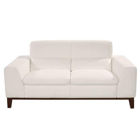 White Leather Loveseat by Milani White Leather Loveseat El Dorado Furniture