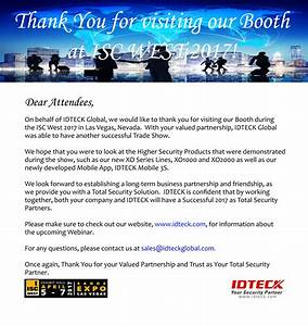 simple thank you letter to trade partners in testimonials With thank you letter for visiting trade show booth