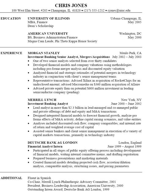 17331 investment banking resume template investment banking resume investment banking resume we