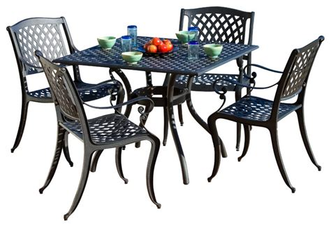 marietta outdoor cast aluminum dining 5 set