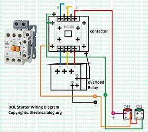Wiring Diagram For Dol Motor Starter