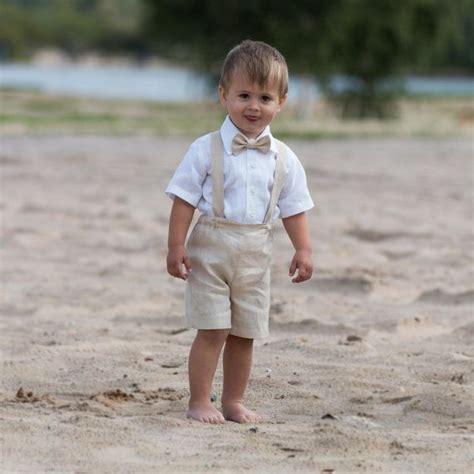 Ring bearer outfit Baby boy baptism clothes Boy linen suit ...
