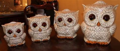 owl canisters for the kitchen 1000 ideas about owl kitchen decor on pinterest owl kitchen owls decor and owl home decor