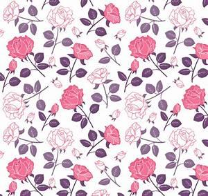 Rose seamless background vector elegant branch rose ...