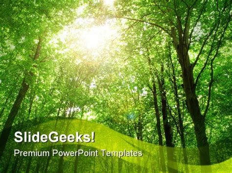 nature powerpoint template sunlight nature powerpoint template 0810