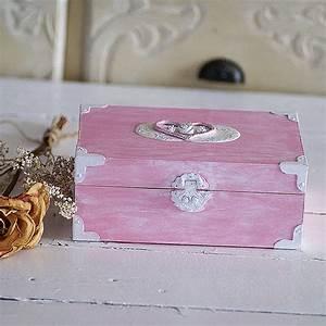 Coffre à Bijoux Bois : rose shabby chic bo te souvenirs coffre shabby par ~ Premium-room.com Idées de Décoration