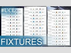 UEFA Champions League Full Fixtures 201617 YouTube