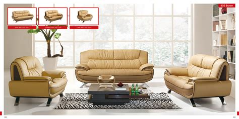 leather living room furniture 3 pc esf 405 modern leather sofa set Contemporary