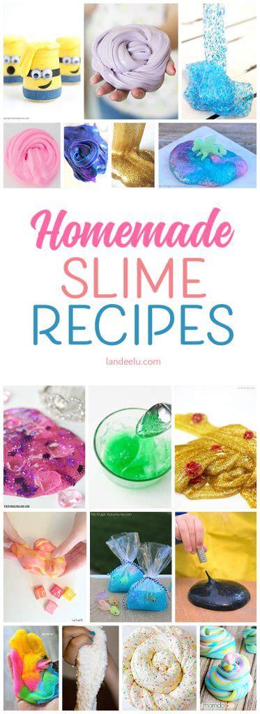Homemade Slime Recipe Ideas To Try! Landeelucom