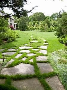 Allee De Jardin : am nagement all e de jardin et chemin de pierre en 95 id es ~ Premium-room.com Idées de Décoration