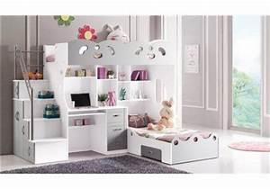 Meuble pour chambre de fille lit combine pour chambre de for Amenager petite chambre pour 2 filles